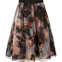 Blooms of enchantment skirt - Black | Skirts & Shorts | Ted Baker