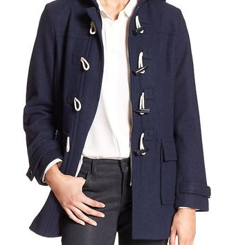 Banana Republic Factory Wool Blend Toggle Coat