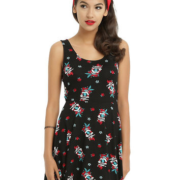 Disney The Little Mermaid Tattoo Bow Back Dress