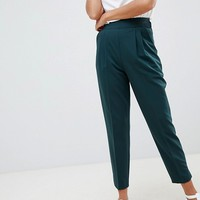 ASOS DESIGN high waist tapered pants at asos.com