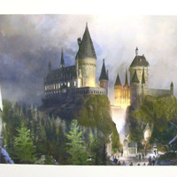 Canvas Print Hogwarts School of Witchcraft and Wizardry of Harry Potter, Matte Canvas Print, Home Decor Canvas