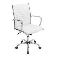 LumiSource Master High-Back Leatherette Office Chair