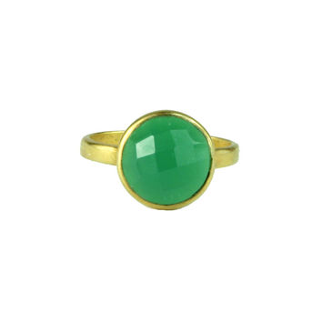 Emerald Green Onyx Ring