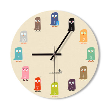 Wall Clock baby owl clock cute owl clock home decoration wall art owl lovers living room office baby room clock children room