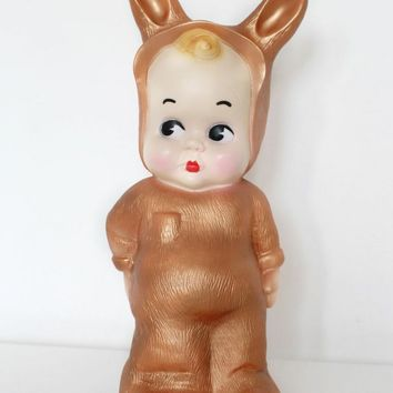 Copper Bunny Lamp