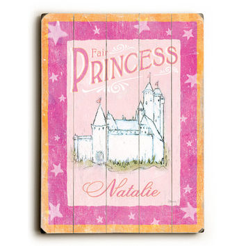 Personalized Princess Wood Sign