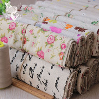 Linen 25cm*25cm 20pcs cotton Fabric Fat Quarter Bundle Vintage Quilting Patchwork Tilda Fbric Sewing Diy Cloth (Size: 0, Color: Multicolor)