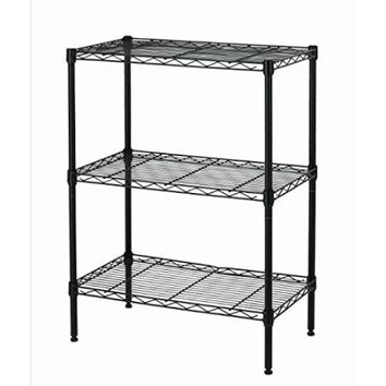 New Wire Shelving Cart Unit 3 Shelves Shelf Rack Layer Tier - Walmart.com