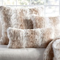 Faux Fur Pillow Cover - Light Fox