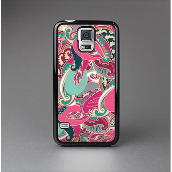 The Colorful Pink & Teal Seamless Paisley Skin-Sert Case for the Samsung Galaxy S5