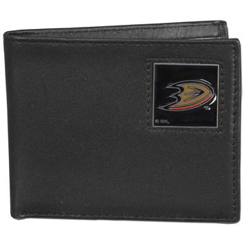 NHL Team Leather Bi-fold Wallet Packaged in Gift Box