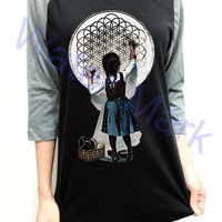 Bring Me The Horizon Retro Logo Unisex Men Women Black Long Sleeve Baseball Shirt Tshirt Jersey