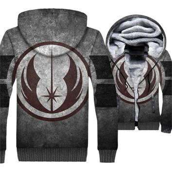 Star Wars Jedi Printed 3D Hoodies New Style 2018 Winter Jackets Men Thick Warm Men's Tracksuit Plus Size Sweatshirts For Fans