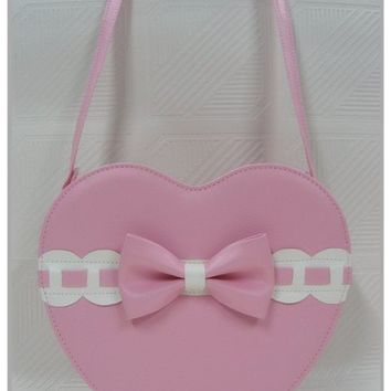 Japan Sweet Lolita Gothic Punk Heart Messenger Bags
