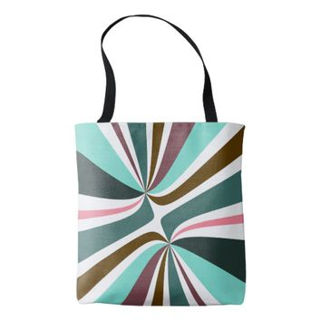 Retro Swirls Tote Bag