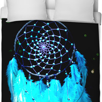 dream catcher on galaxy nebula bedding from pink peri