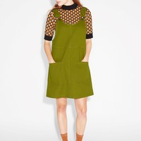 Monki | View all new | Rounded neck dungaree dress