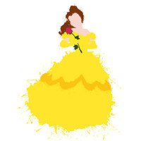 Belle - Beauty and the Beast Disney Art Print by DanielBergerDesign