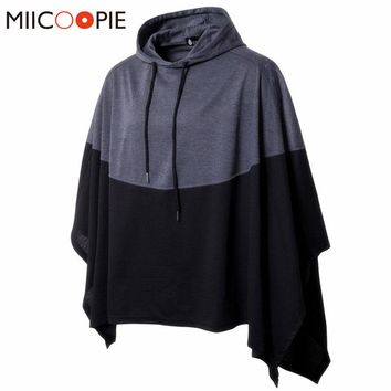 Hoodies Men Women Casual Party Hoodie Patchwork Sweatshirts Pullover Irregular Hem Poncho Cape Cloak Assassins Creed Streetwear