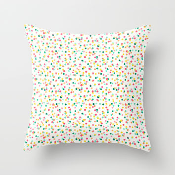 Polka Dot Confetti Throw Pillow by Jenna Lechner