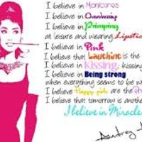 audrey hepburn quotes i believe in pink tumblr - Google Search