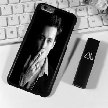 Johnny Depp (bw) iPhone 6 Plus | 6S Plus Case Planetscase.com