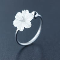 Dainty shell pearl daisy 925 Sterling Silver ring, a perfect gift
