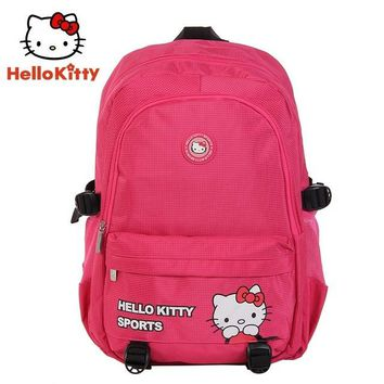 Fitness Running bag Hello Kitty Women Sports Backpacks New Girl   Pink Cute Outdoor School Backpack Book  HHB44888