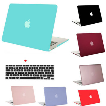 MOSISO Clear Matte Plastic Hard Case Cover for Macbook Air 13 11 for Macbook Pro 13 15 Retina Pro 13.3 15.4 inch Laptop Shell
