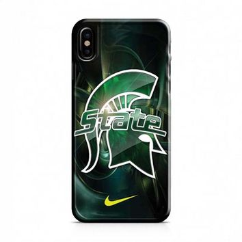 Michigan State nike iPhone X Case