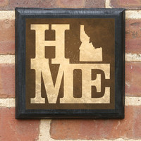 Idaho HOME STATE Vintage Style Plaque / Sign Decorative & Custom Color