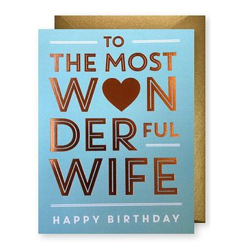 Wonderful Wife Birthday