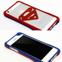 Strapya World : American Cartoon Characters Stylish iPhone 5/5s Bumpers (Superman/ Blue x Red)