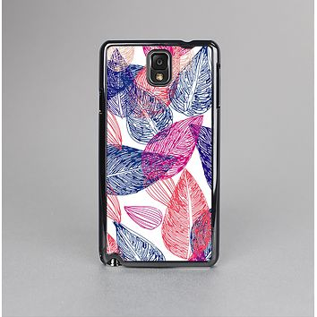 The Seamless Pink & Blue Color Leaves Skin-Sert Case for the Samsung Galaxy Note 3