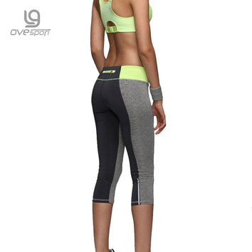 Women Sexy Zipper Pocket Leggings Fitness Capri Pants Reflective Leggins Slim Women's Workout Trousers Quick-dry Activewear 1025
