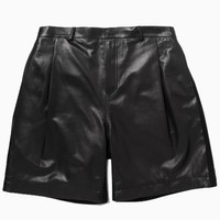 Leather Shorts with Trim   Choies