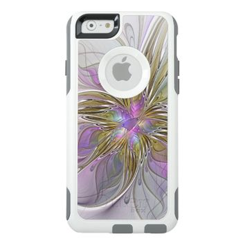 Floral abstract and colorful Fractal Art OtterBox iPhone 6/6s Case