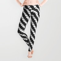 Spinal Stripes Leggings by RichCaspian