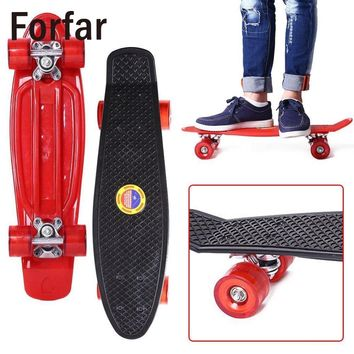 Forfar 22 Inches Four-wheel Street Long Skate Board Mini Cruiser Skateboard For Adult Children