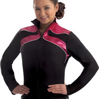 Ribbon Topped Gymnastics Warm-Up Jacket from GK Elite