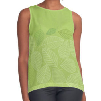 'LEAVES ENSEMBLE GREENERY' Kontrast Top by Pia Schneider