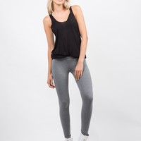 Everyday Basic Leggings - Gray