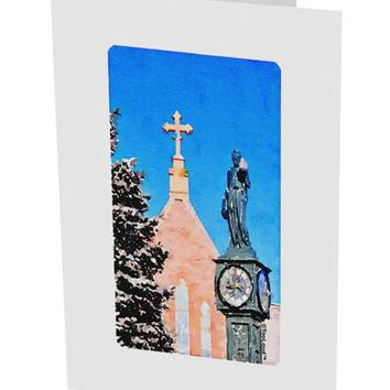 "Manitou Springs Watercolor 10 Pack of 5x7"" Side Fold Blank Greeting Cards by TooLoud"