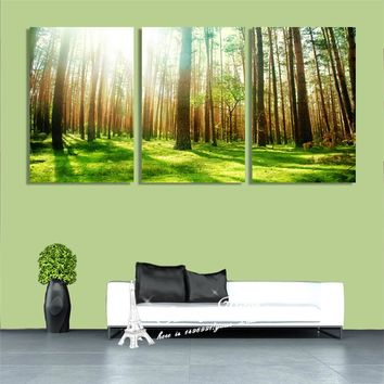 Canvas Art Painting HD Prints Trees Means Stronger Life On Grass Land Wall Art Pictures Christmas Decoration