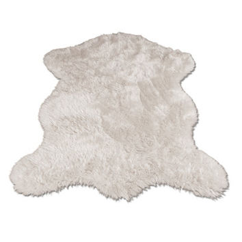 Walk On Me Polar Bear Pelt Faux Fur Area Rug & Reviews | Wayfair