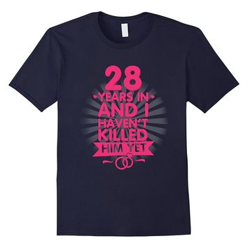 28 Years of Marriage T shirt. 28th Anniversary Gift for Wife