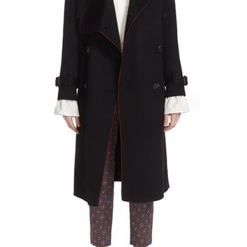 Burberry Asymmetrical Drape Cashmere Trench | Nordstrom