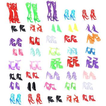 Doll Shoes Colorful Multiple Styles Heels Sandals for Barbie Dolls Accessories Dress O