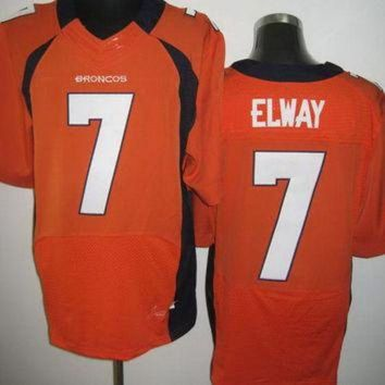 VLX9RV Nike Broncos #7 John Elway Orange Team Color Mens NFL Elite Jersey