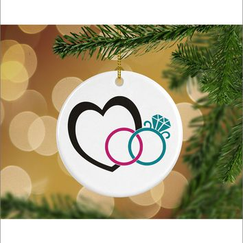 Husband and Wife Wedding Christmas Ornament - Mr. & Mrs. Christmas Ornament - Gifts For Significant Other - Christmas Gift Ideas - RO0028